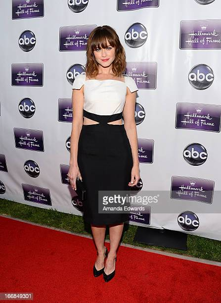 Actress Alexis Bledel arrives at the Disney ABC Television and The Hallmark Hall of Fame's premiere of 'Remembering Sunday' at Fox Studio Lot on...