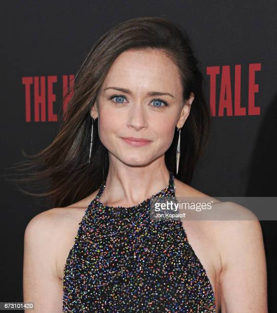 Actress Alexis Bledel arrives at the premiere of Hulu's 'The Handmaid's Tale' at ArcLight Cinemas Cinerama Dome on April 25 2017 in Hollywood...