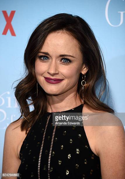 Actress Alexis Bledel arrives at the premiere of Netflix's 'Gilmore Girls A Year In The Life' at the Regency Bruin Theatre on November 18 2016 in Los...