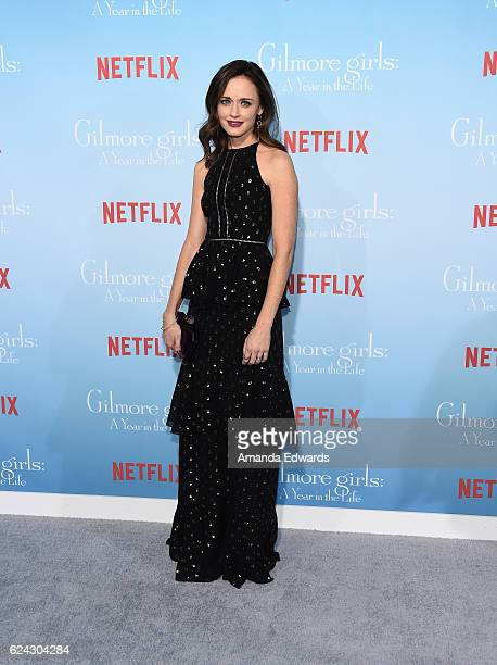Actress Alexis Bledel arrives at the premiere of Netflix's Gilmore Girls A Year In The Life at the Regency Bruin Theatre on November 18 2016 in Los...