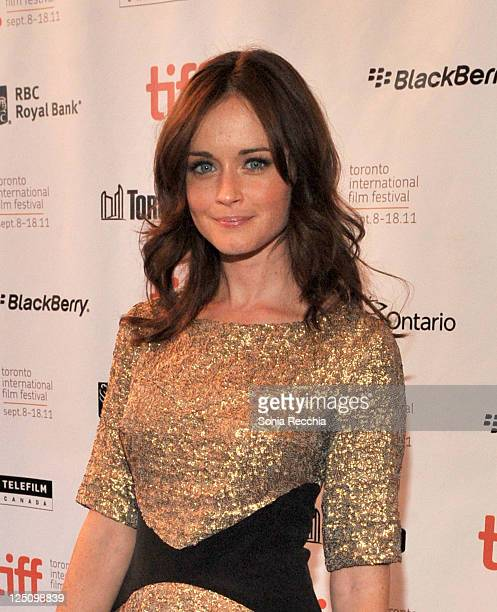 Actress Alexis Bledel arrives at Violet Daisy Premiere during the 2011 Toronto International Film Festival held at The Elgin theatre on September 15...