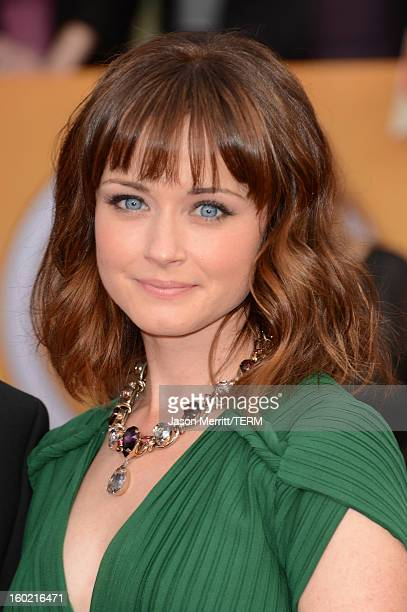 Actress Alexis Bledel attends the 19th Annual Screen Actors Guild Awards at The Shrine Auditorium on January 27 2013 in Los Angeles California...