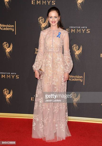 Actress Alexis Bledel attends the 2017 Creative Arts Emmy Awards at Microsoft Theater on September 10 2017 in Los Angeles California