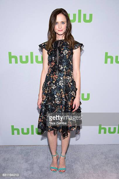 Actress Alexis Bledel attends the 2017 Hulu Television Critics Association winter press tour at Langham Hotel on January 7, 2017 in Pasadena,...