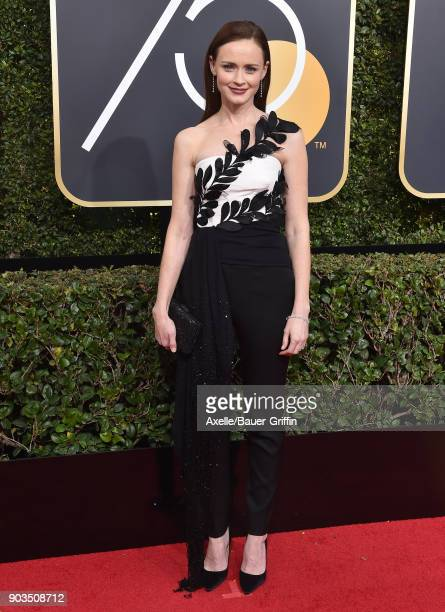Actress Alexis Bledel attends the 75th Annual Golden Globe Awards at The Beverly Hilton Hotel on January 7, 2018 in Beverly Hills, California.