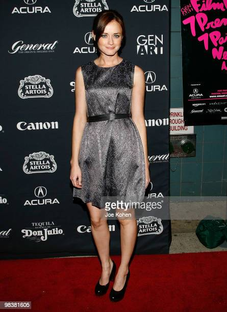 """Actress Alexis Bledel attends the Gen Art Film Festival screening of """"Teenage Paparazzo"""" at the School of Visual Arts Theater on April 10, 2010 in..."""