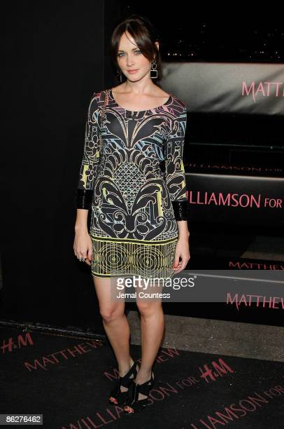 Actress Alexis Bledel attends the launch of the Matthew Williamson for H&M collection aboard The Majesty on April 28, 2009 in New York City.