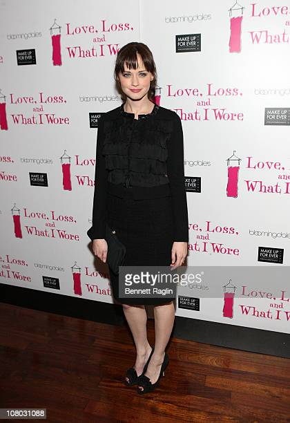 """Actress Alexis Bledel attends the """"Love, Loss, and What I Wore"""" 500th performance celebration at B Smith's Restaurant on January 13, 2011 in New York..."""