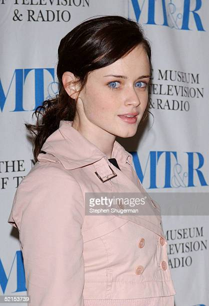 Actress Alexis Bledel attends the Museum of Television Radio Presents Gilmore Girls 100th Episode Celebration at The Museum of Television Radio on...