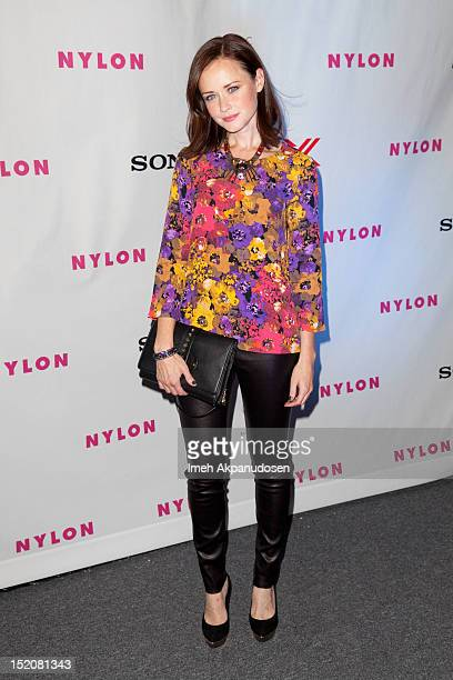 Actress Alexis Bledel attends the NYLON And Sony X Headphones September TV Issue Party at Mr C Beverly Hills on September 15 2012 in Beverly Hills...