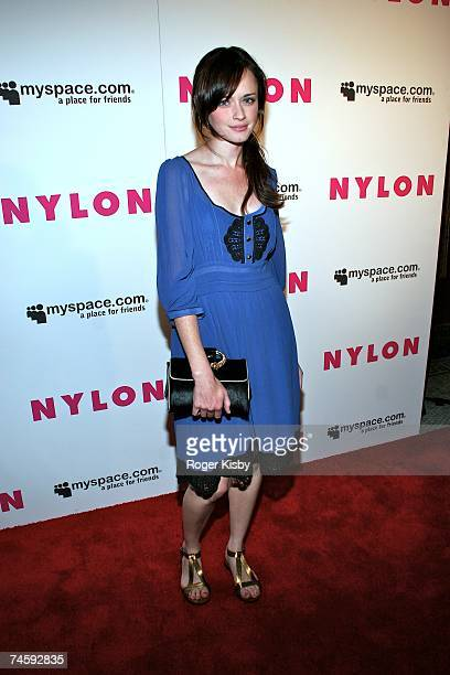 Actress Alexis Bledel attends the Nylon Magazine MySpace International Music Issue Concert at Irving Plaza on June 13 2007 in New York City