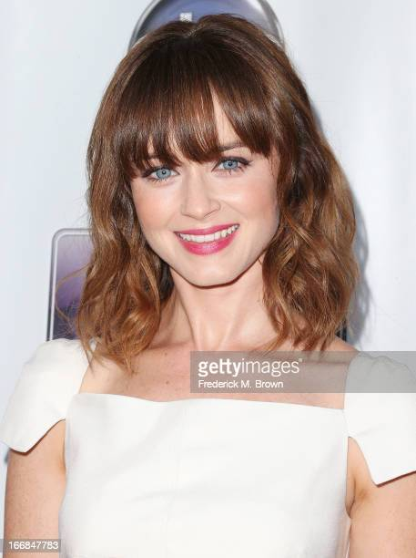 Actress Alexis Bledel attends the premiere of Disney ABC Television and The Hallmark Hall of Fame's 'Remembering Sunday' at the Fox Studio Lot on...