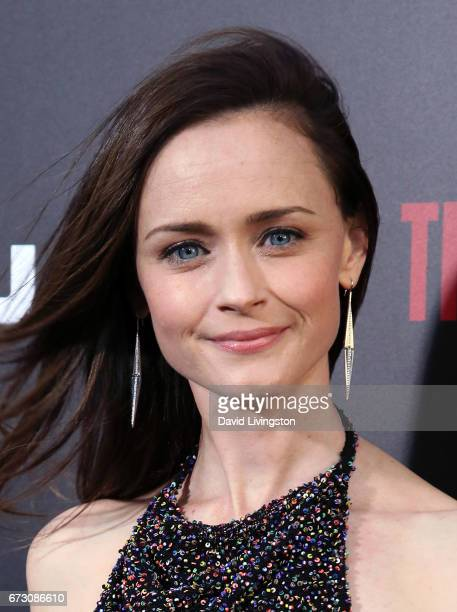 Actress Alexis Bledel attends the premiere of Hulu's The Handmaid's Tale at ArcLight Cinemas Cinerama Dome on April 25 2017 in Hollywood California
