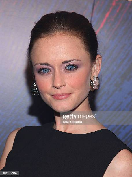 Actress Alexis Bledel attends the YSL Belle D'Opium fragrance launch at The YSL Stage on June 17 2010 in New York City