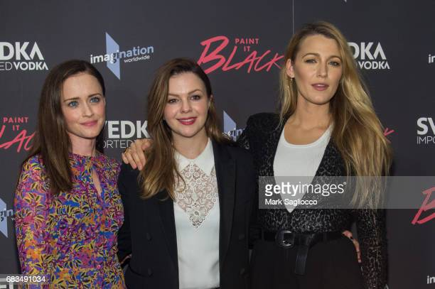 "Actress Alexis Bledel, Director Amber Tamblyn and Blake Lively attend the ""Paint It Black"" New York Premiere at the Museum of Modern Art on May 15,..."