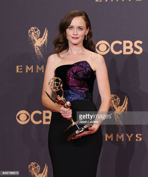 Actress Alexis Bledel poses in the press room at the 69th annual Primetime Emmy Awards at Microsoft Theater on September 17, 2017 in Los Angeles,...