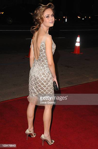Actress Alexis Dziena arrives at Fools Gold Premiere Los Angeles premiere at the Grauman's Chinese Theatre on January 30 2008 in Hollywood California