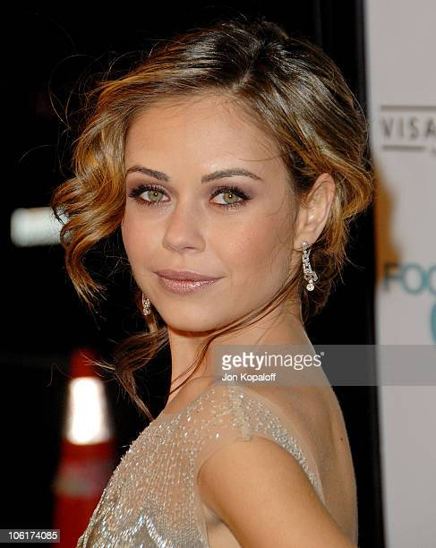 Actress Alexis Dziena arrives at the Los Angeles Premiere 'Fool's Gold' at the Grauman's Chinese Theater on January 30 2008 in Hollywood California