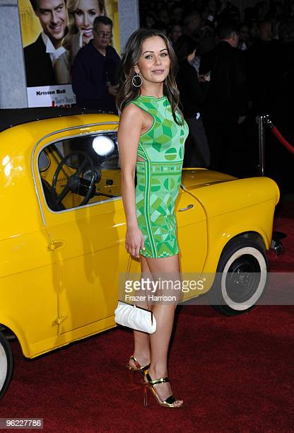 Actress Alexis Dziena arrives at the premiere Of Touchstone Pictures' When in Rome at the El Capitan Theatre on January 27 2010 in Hollywood...