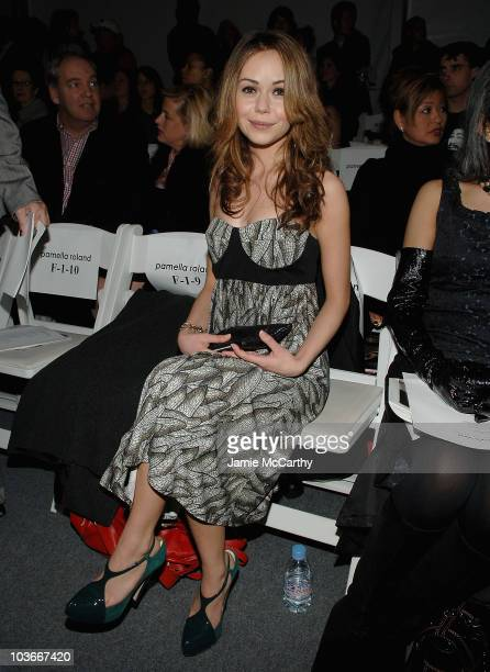Actress Alexis Dziena attends Pamella Roland Fall 2008 during MercedesBenz Fashion Week at The Salon Bryant Park on February 4 2008 in New York