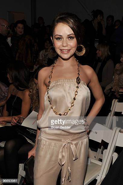 Actress Alexis Dziena attends the Rebecca Taylor Fall 2010 Fashion Show during MercedesBenz Fashion Week at The Salon at Bryant Park on February 14...