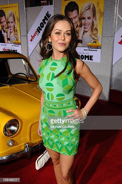 Actress Alexis Dziena attends the When In Rome Los Angeles premiere at the El Capitan Theatre on January 27 2010 in Hollywood California