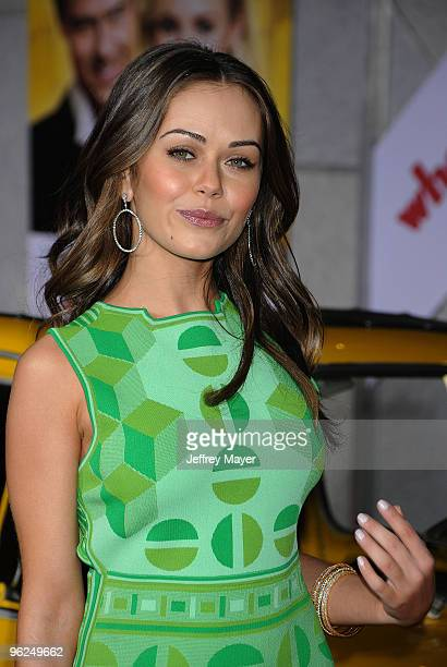 Actress Alexis Dziena attends the 'When In Rome' Los Angeles Premiere at the El Capitan Theatre on January 27 2010 in Hollywood California