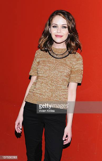 Actress Alexis Dziena attends the 'Wrong' Premiere and party at Fuego Pizzeria during the 2012 Sundance Film Festival on January 21 2012 in Park City...