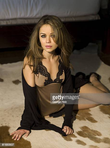 Actress Alexis Dziena poses at a portrait session on June 6 2008 in New York City