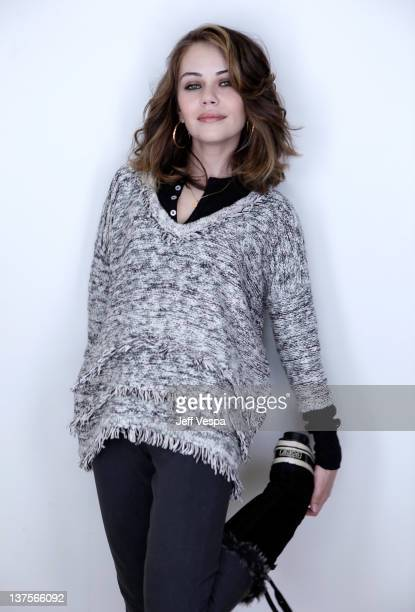 Actress Alexis Dziena poses for a portrait during the 2012 Sundance Film Festival at the WireImage Portrait Studio at TMobile Village at the Lift on...