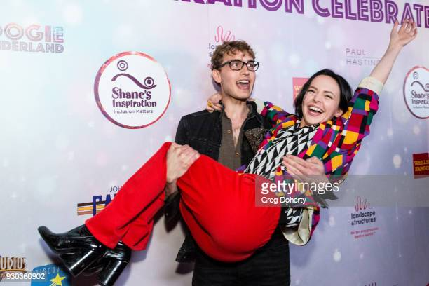 Actress Alexis G Zall and Andrew Lowe attend the Shane's Inspiration's 20th Anniversary Gala at Vibiana on March 10 2018 in Los Angeles California