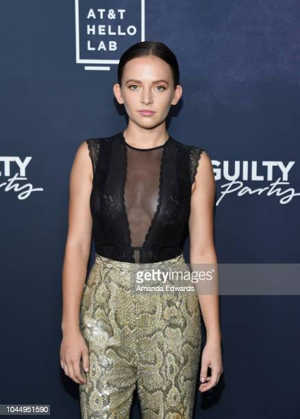 Actress Alexis G Zall arrives at the ATT Hello Lab's 'Guilty Party History Of Lying' Season 2 Premiere at the ArcLight Hollywood on October 2 2018 in...