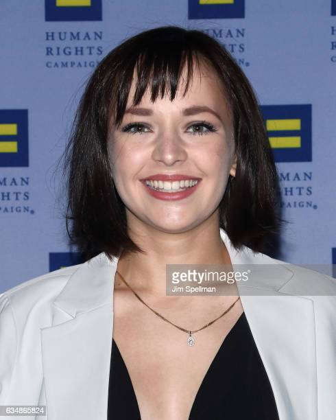 Actress Alexis G Zall attends the 2017 Human Rights Campaign Greater New York Gala at The Waldorf Astoria on February 11 2017 in New York City