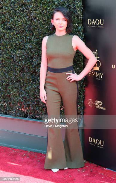 Actress Alexis G Zall attends the 45th Annual Daytime Creative Arts Emmy Awards at Pasadena Civic Auditorium on April 27 2018 in Pasadena California