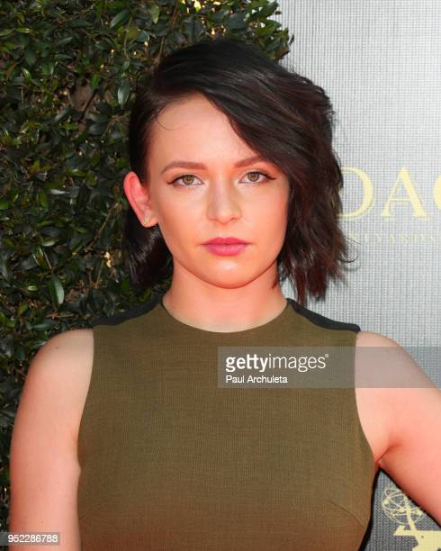Actress Alexis G Zall attends the 45th Annual Daytime Creative Arts Emmy Awards at the Pasadena Civic Auditorium on April 27 2018 in Pasadena...