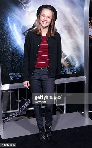 Actress Alexis G Zall attends the premiere of 'Project Almanac' at TCL Chinese Theatre on January 27 2015 in Hollywood California