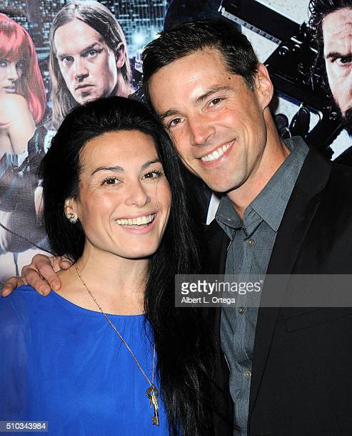 Actress Alexis Iacono and actor Kevin Caliber arrive for the Screening Of Oscar Gold Productions' 'Vigilante Diaries' held at ArcLight Hollywood on...