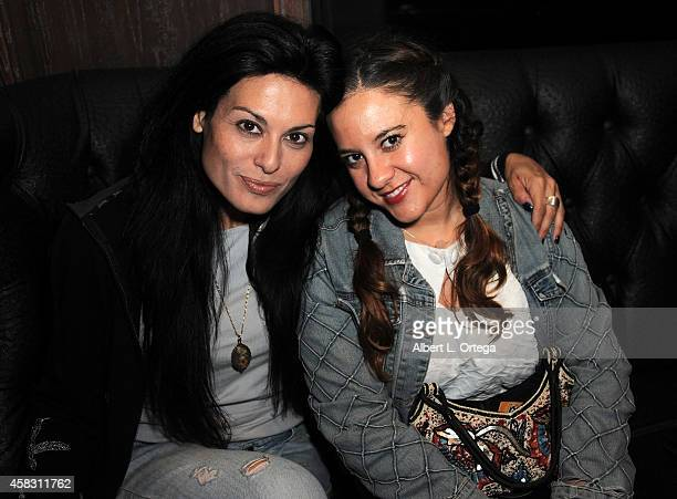 Actress Alexis Iacono and director Caitlin Kazepis attend the Season Finale For SyFy Channel's 'Faceoff' Season 7 Viewing Party held at The Parlor on...
