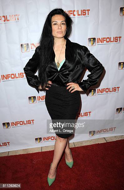 Actress Alexis Iacono arrives for the InfoList PreOscar Soiree And Birthday Party for Jeff Gund held at OHM Nightclub on February 18 2016 in...