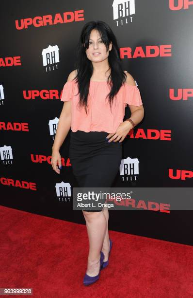 Actress Alexis Iacono arrives for the premiere of BH Tilt's 'Upgrade' held at the Egyptian Theatre on May 30 2018 in Hollywood California