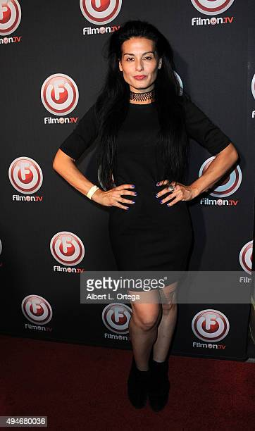 Actress Alexis Iacono arrives for the Premiere Of FilmOnTV's 'Bob Thunder Internet Assassin' held at the Egyptian Theatre on October 27 2015 in...