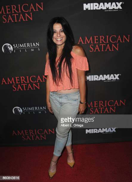 Actress Alexis Iacono arrives for the Premiere Of Miramax's 'American Satan' held at AMC Universal City Walk on October 12 2017 in Universal City...