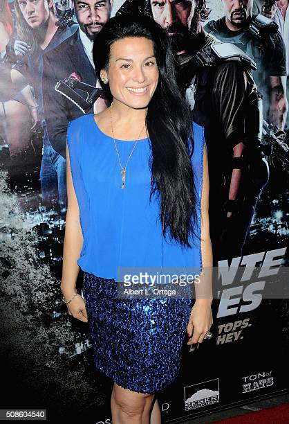 Actress Alexis Iacono arrives for the Screening Of Oscar Gold Productions' 'Vigilante Diaries' held at ArcLight Hollywood on February 4 2016 in...