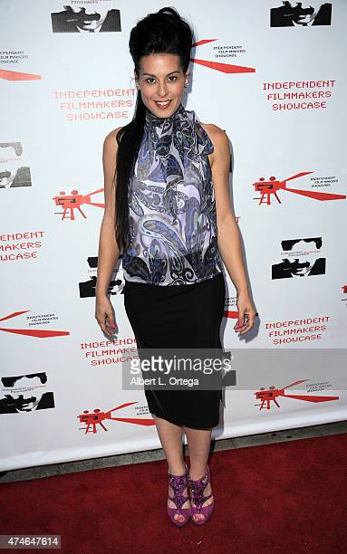 Actress Alexis Iacono arrives for the Screening of LA Slasher as part of the Independent Filmmakers Showcase Festival held at the Laemmle Music Hall...
