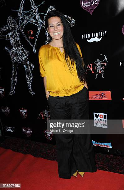 Actress Alexis Iacono at the 2nd Annual Artemis Film Festival Red Carpet Opening Night/Awards Presentation held at Ahrya Fine Arts Movie Theater on...