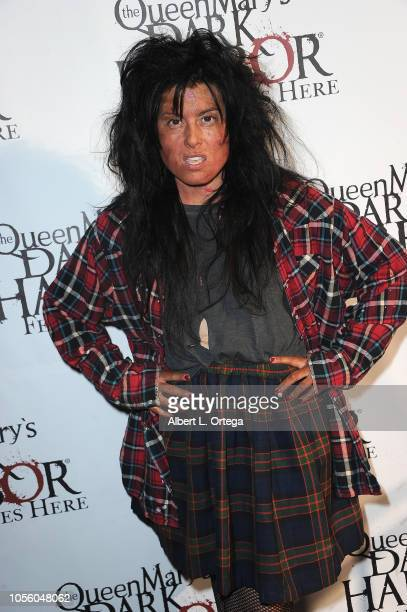 Actress Alexis Iacono attends Queen Mary Dark Harbor Private Tour And Halloween Celebration held at The Queen Mary on October 31 2018 in Long Beach...