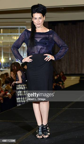 Actress Alexis Iacono attends 'Reel Haute' In Hollywood International Couture Fashion Show held at The Beverly Hilton Hotel on November 6 2015 in...