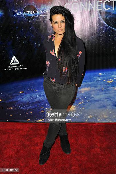 Actress Alexis Iacono attends the Premiere of 'The Connected Universe' at DGA Theater on September 26 2016 in Los Angeles California