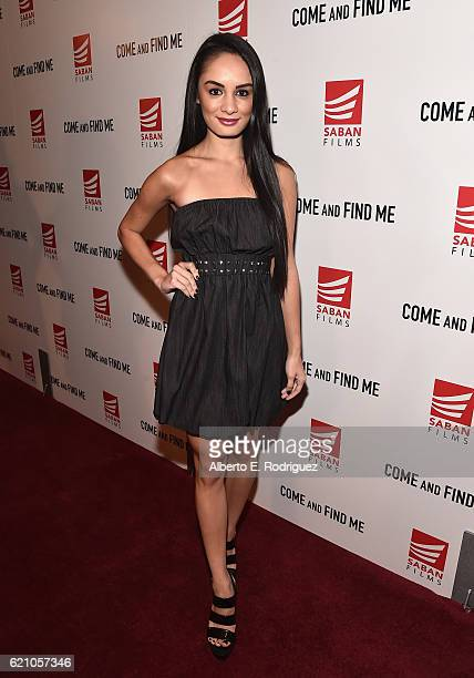Actress Alexis Joy attends the premiere of Saban Films' 'Come And Find Me' at Pacific Theatre at The Grove on November 3 2016 in Los Angeles...