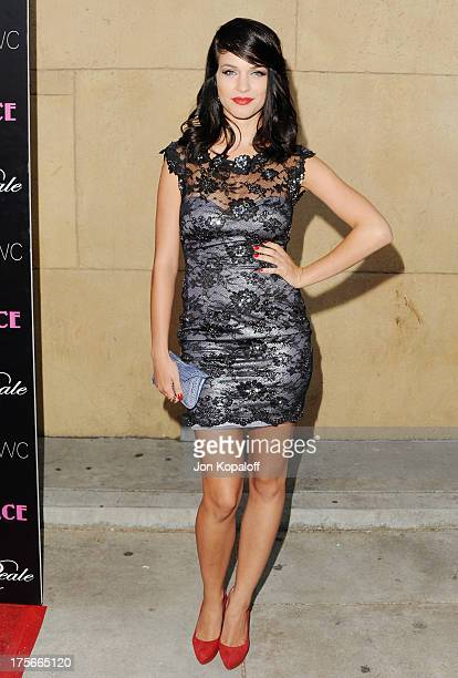 Actress Alexis Knapp arrives at the Los Angeles Premiere 'Lovelace' at the Egyptian Theatre on August 5 2013 in Hollywood California